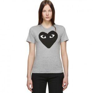 PLAY Comme des Garçons Black Heart Gray T-shirt